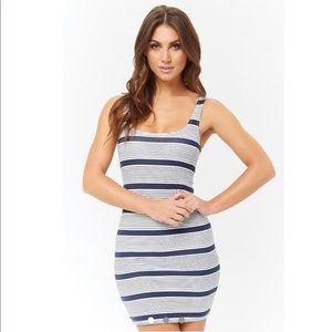 Navy/White Bodycon Dress